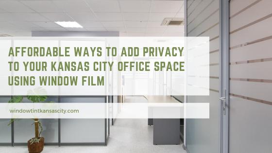 privacy window film kansas city office